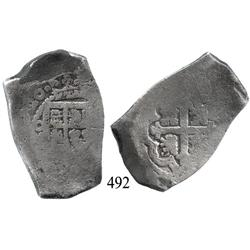 Mexico City, Mexico, cob 8 reales, (17)20(J), rare date.