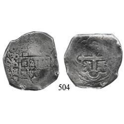 Mexico City, Mexico, cob 8 reales, 1730, oMR.
