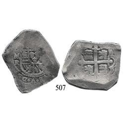 Mexico City, Mexico, cob 8 reales, Philip V, oMR (1729-30).