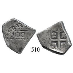 Mexico City, Mexico, cob 4 reales, 1730, oM(R).