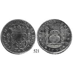Mexico City, Mexico, pillar 8 reales, Philip V, 1733MF, rare.