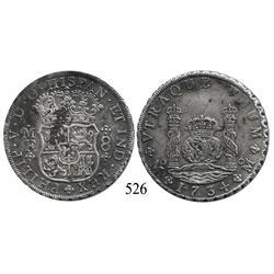 Mexico City, Mexico, pillar 8 reales, Philip V, 1734MF, choice.