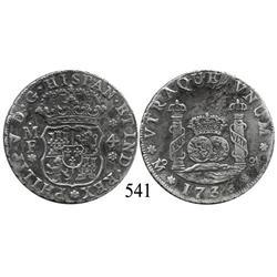 Mexico City, Mexico, pillar 4 reales, Philip V, 1736MF.
