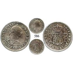 Mexico City, Mexico, bust 1 real, Charles III, 1783FF, choice Mint State.