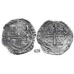 Mexico City, Mexico, cob 8 reales, 16(08), oMA/F, rare.