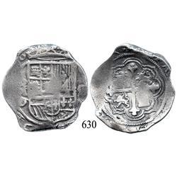 Mexico City, Mexico, cob 8 reales, (162)0D, rare.