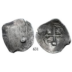 Mexico City, Mexico, cob 8 reales, Philip IV, oMD (1620s), with colonial-era plug for weight standar