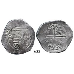Mexico City, Mexico, cob 8 reales, 1652/49, oMP, with chopmarks.