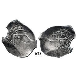 Mexico City, Mexico, cob 8 reales, 1659, oM(P), rare.