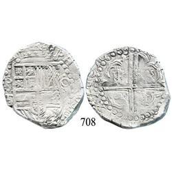 Potosí, Bolivia, cob 8 reales, 1628T.