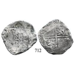 Potosí, Bolivia, cob 8 reales, (16)41, assayer not visible, rare.