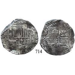 Potosí, Bolivia, cob 8 reales, 164(?), assayer TR?.