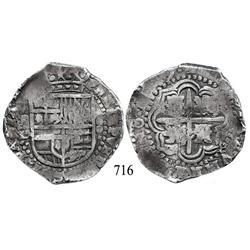 Potosí, Bolivia, cob 8 reales, 1(6)49O, no countermark (rare).
