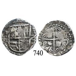 Potosí, Bolivia, cob 2 reales, 1619T.
