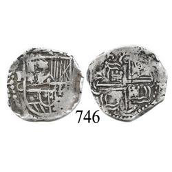 Potosí, Bolivia, cob 1 real, Philip III, P-C, rare.