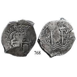 Potosí, Bolivia, cob 8 reales, 1695VR.