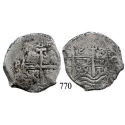 Potosí, Bolivia, cob 8 reales, 1699F.