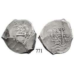 Potosí, Bolivia, cob 8 reales, 1703Y.