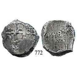 Potosí, Bolivia, cob 8 reales, 1743C.