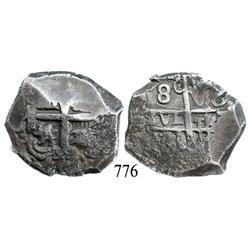 Potosí, Bolivia, cob 8 reales, 1771V-(Y).