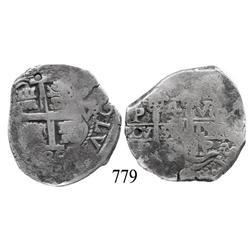 Potosí, Bolivia, cob 4 reales, 1685VR.