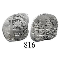 Potosí, Bolivia, cob 1 real, 1684VR.