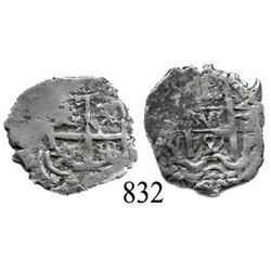 Potosí, Bolivia, cob 1 real, 1727Y, (Louis I), scarce.