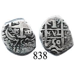 Potosí, Bolivia, cob 1 real, 1750E.