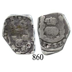 Guatemala City, Guatemala, cob 2 reales, 1737J.