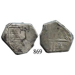 Spain (mint uncertain), cob 4 reales, Philip III or IV, assayer not visible.