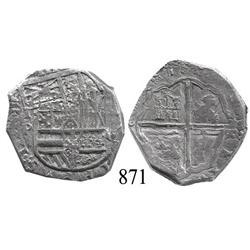 Toledo, Spain, cob 4 reales, 1622P, scarce.