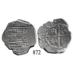 Toledo, Spain, cob 4 reales, 1624P, scarce.