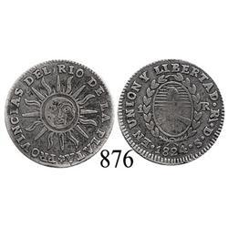 Argentina (La Rioja), 1 real, 1824-DS, rare.