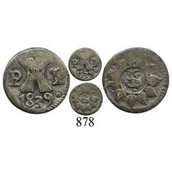 Argentina (Cordoba), ¼ real, 1839PP.
