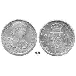 Potosí, Bolivia, bust 8 reales, Charles IV, 1798PP.