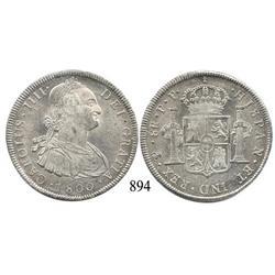 Potosí, Bolivia, bust 8 reales, Charles IV, 1800PP.