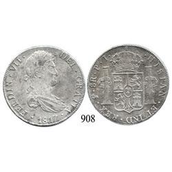 Potosí, Bolivia, bust 8 reales, Ferdinand VII, 1817PJ.