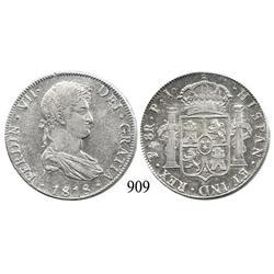 Potosí, Bolivia, bust 8 reales, Ferdinand VII, 1818PJ.
