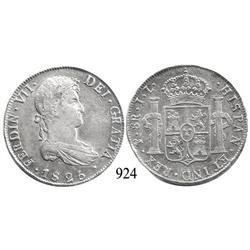 Potosí, Bolivia, bust 8 reales, Ferdinand VII, 1825JL.