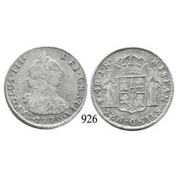 Potosí, Bolivia, bust 4 reales, Charles III, 1776PR.