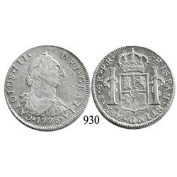 Potosí, Bolivia, bust 4 reales, Charles III, 1778PR.
