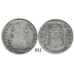 Potosí, Bolivia, bust 4 reales, Charles III, 1778PR.