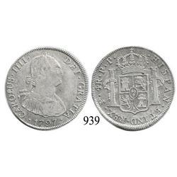 Potos?, Bolivia, bust 4 reales, Charles IV, 17970PP.