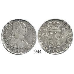 Potosí, Bolivia, bust 4 reales, Charles IV, 1805PJ.