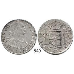 Potosí, Bolivia, bust 4 reales, Charles IV, 1806PJ.