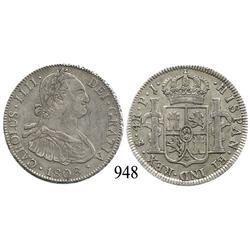 Potosí, Bolivia, bust 4 reales, Charles IV, 1808PJ.
