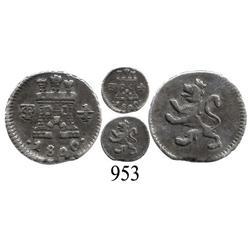 Potosí, Bolivia, ¼ real, Charles IV, 1800.