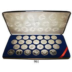 "British Virgin Islands, proof set of 25 $20 ""treasure coins"" in 0.925 silver in special presentation"
