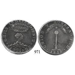Santiago, Chile, peso, 1818FD.