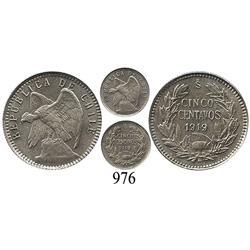 Santiago, Chile, 5 centavos, 1919.